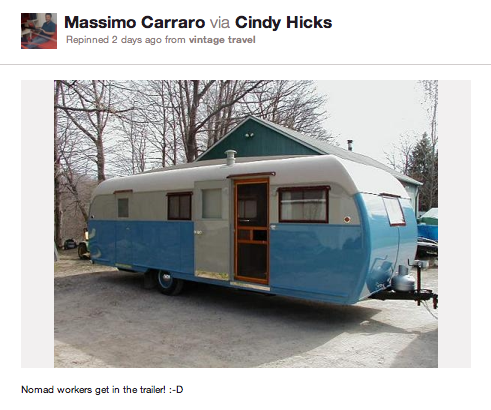 From Pinterest: Coworking in the trailer