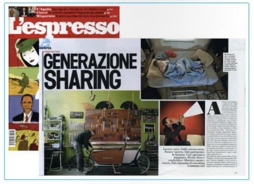 Coworking e giornali: L'Espresso